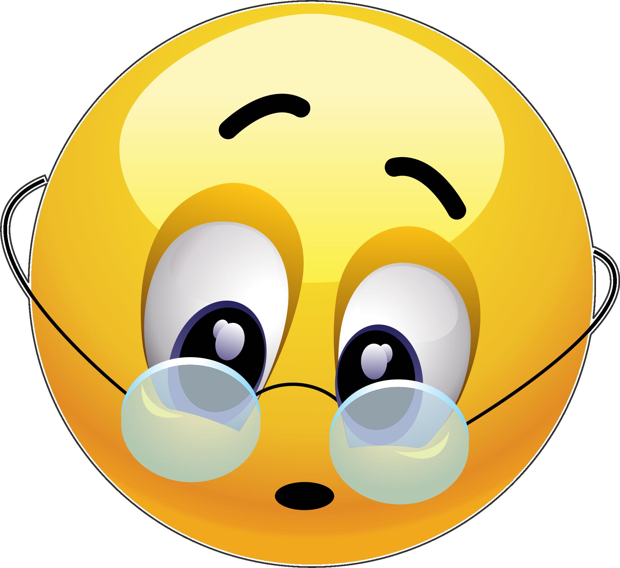 Glasses Emoji Decal