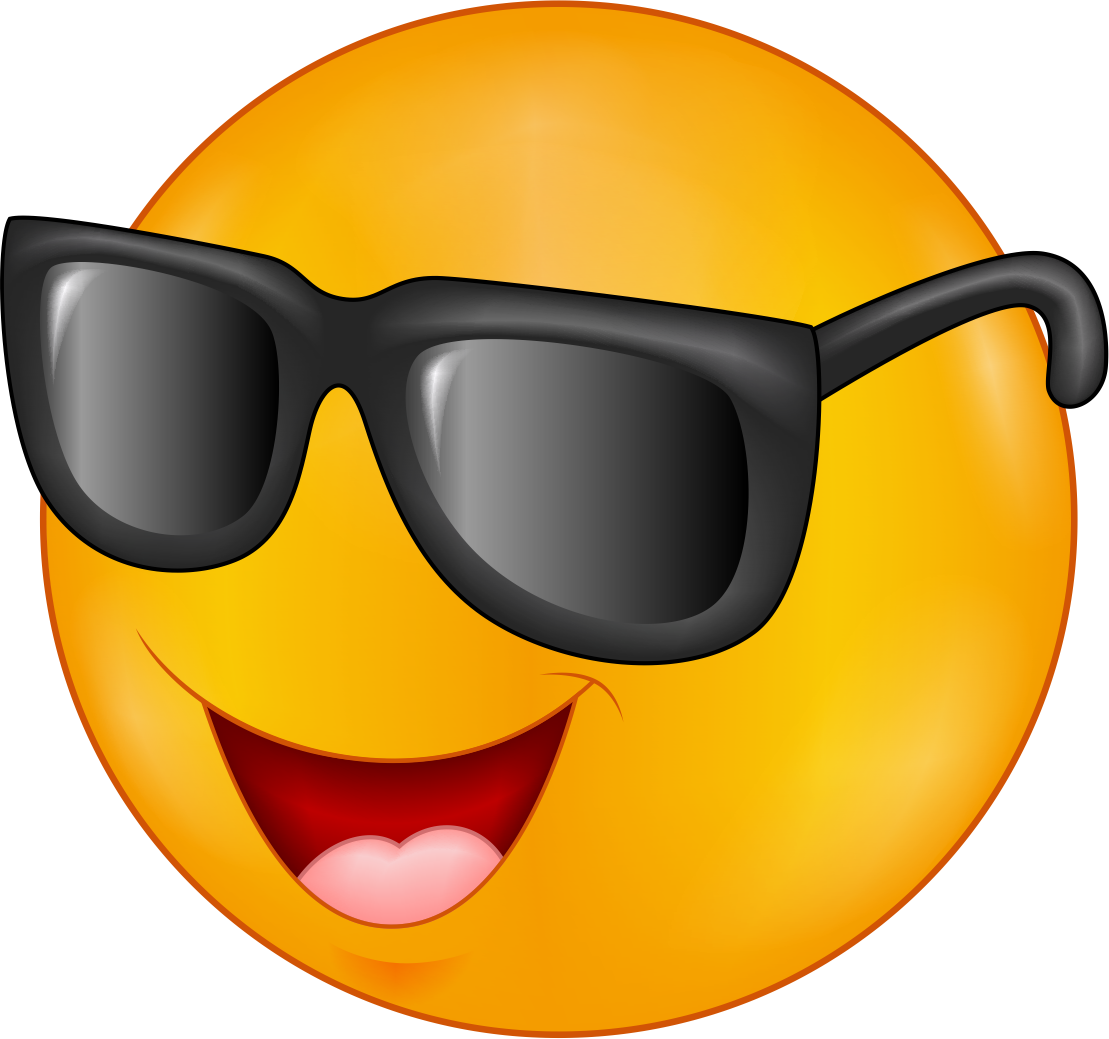 Sunglasses Emoji Decal
