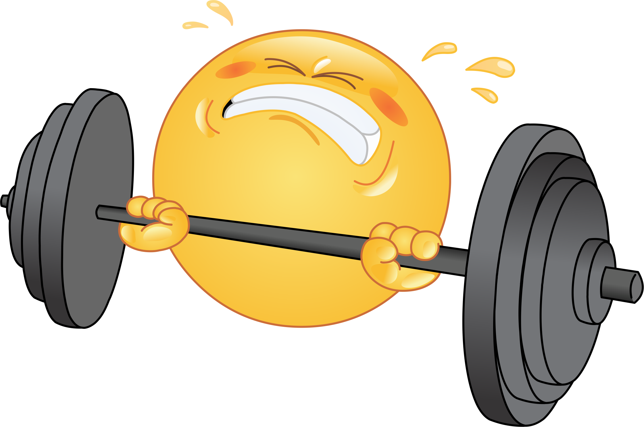 weightlifting emoji decal