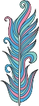 Feather Colored Decal 17