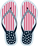 Flip Flop Colored Decal 104