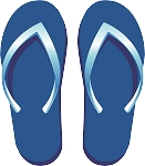 Flip Flop Colored Decal 61