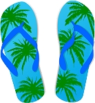 Flip Flop Colored Decal 63