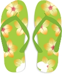Flip Flop Colored Decal 64