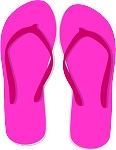 Flip Flop Colored Decal 65