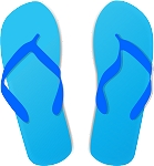 Flip Flop Colored Decal 66