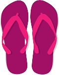 Flip Flop Colored Decal 67