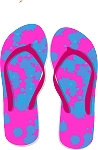 Flip Flop Colored Decal 68