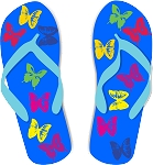 Flip Flop Colored Decal 69