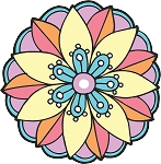 Colored Flowers Decal 55