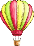 Hot Air Balloon Decal 13