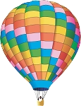 Hot Air Balloon Decal 17