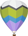 Hot Air Balloon Decal 19