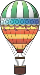 Hot Air Balloon Decal 1