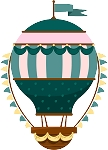 Hot Air Balloon Decal 23