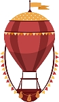 Hot Air Balloon Decal 25