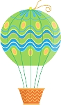Hot Air Balloon Decal 38