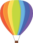 Hot Air Balloon Decal 39