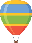 Hot Air Balloon Decal 42