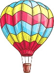 Hot Air Balloon Decal 7