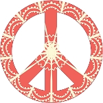 Peace Sign Decal 14