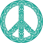 Peace Sign Decal 15