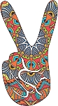 Peace Sign Decal 24