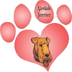 Airdale Terrier  Decal