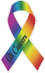 All Cancers Ribbon 1 decal