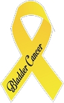 Bladder Cancer Ribbon decal 1