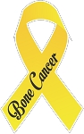 Bone Cancer Ribbon decal