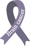 Brain Cancer Ribbon  2 decal