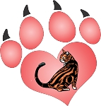 cat paw 12 decal