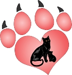 cat paw 1decal