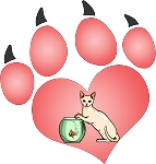 cat paw 2 decal
