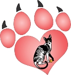 cat paw 3 decal