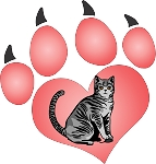cat paw 6 decal