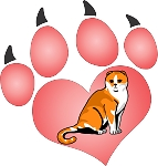 cat paw decal 7