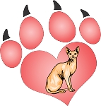 cat paw decal 8