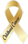 childhood cancer ribbon decal 1