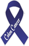 colon cancer ribbon decal 1