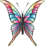Colored Butterfly Decal 13