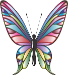 Colored Butterfly Decal 14