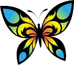 Colored Butterfly Decal 20