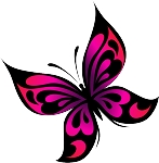 Colored Butterfly Decal 21
