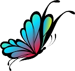 Colored Butterfly Decal 23