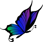 Colored Butterfly Decal 25