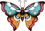 Colored Butterfly Decal 27