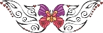 Decorative Butterfly Color Decal 6