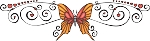 Decorative Butterfly Color Decal 7